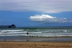 Spiaggia imperiale di California Fotografia Stock