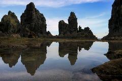 Spiaggia Indonesia di Pengempos Fotografia Stock
