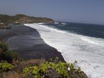 Spiaggia Indonesia di Sadranan Fotografie Stock