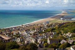 Spiaggia Inghilterra di Chesil e di Portland Fotografia Stock