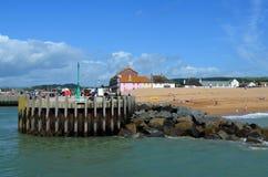 Spiaggia inglese immagine stock