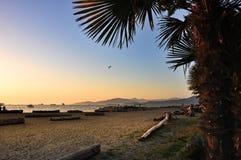 Spiaggia inglese della baia, Vancouver Fotografia Stock Libera da Diritti