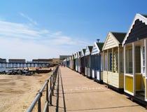 Spiaggia inglese in Suffolk, Southwold fotografie stock