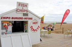 Spiaggia inglese tradizionale, Margate, Inghilterra Immagini Stock