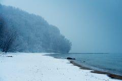 Spiaggia in inverno Fotografia Stock