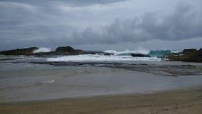 Spiaggia Isabela Puerto Rico di Pesquera fotografia stock libera da diritti