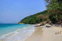 Spiaggia in isola Fotografia Stock Libera da Diritti
