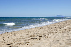 Spiaggia isolata Immagine Stock Libera da Diritti