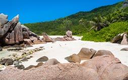 Spiaggia isolata dei Cocos di Anse Immagini Stock Libere da Diritti