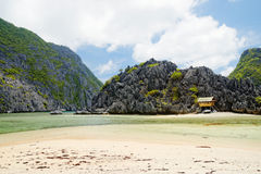Spiaggia isolata (EL Nido, Filippine) Fotografie Stock