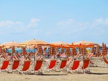 Spiaggia italiana Immagine Stock Libera da Diritti