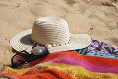 Spiaggia items2 Immagini Stock Libere da Diritti