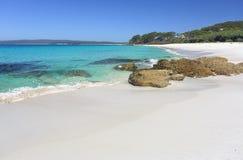 Spiaggia Jervis Bay di Chinamans un paradiso fotografia stock libera da diritti