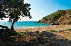 Spiaggia Kedros fotografie stock libere da diritti