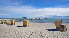 Spiaggia, Kellenhusen, Mar Baltico, Schlesvig-Holstein, Germania fotografia stock libera da diritti