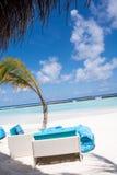Spiaggia a Kurumba, Maldive Fotografia Stock Libera da Diritti