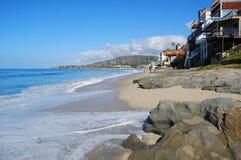 Spiaggia in Laguna Beach del sud, California della via della quercia Fotografia Stock Libera da Diritti