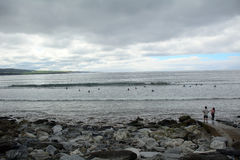 Spiaggia, Lahinch, Irlanda Immagine Stock Libera da Diritti