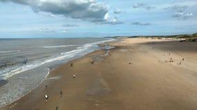 Spiaggia larga fotografie stock