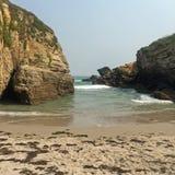 Spiaggia le Catedrais 图库摄影