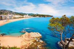 Spiaggia Lloret de Mar Catalogna Spagna di Costa Brava Fotografia Stock