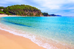 Spiaggia Lloret de Mar Costa Brava di Cala Santa Cristina Fotografia Stock