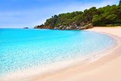 Spiaggia Lloret de Mar Costa Brava di Cala Treumal Fotografia Stock Libera da Diritti