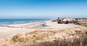 Spiaggia in Loekken Fotografia Stock