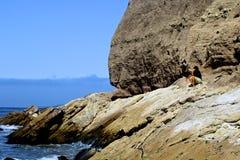 Spiaggia Lompoc California di Jalama Immagine Stock Libera da Diritti