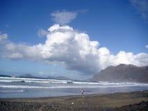 Spiaggia magnifica dell'oceano Immagini Stock Libere da Diritti