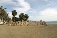 Spiaggia a Malaga fotografia stock libera da diritti