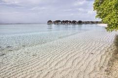Spiaggia in Maldive Immagine Stock