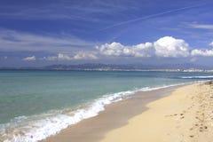 Spiaggia in Mallorca Fotografia Stock Libera da Diritti