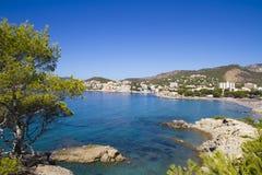 Spiaggia Mallorca di Peguera Fotografia Stock