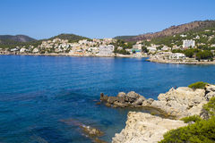 Spiaggia Mallorca di Peguera Immagine Stock Libera da Diritti