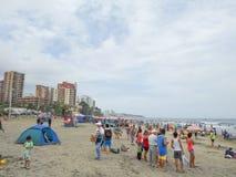 Spiaggia in manta, Ecuador di Murcielago immagine stock