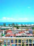Spiaggia & Marino vista Fotografie Stock
