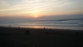 Spiaggia Marocco di Mehdia fotografia stock libera da diritti