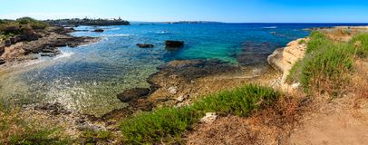 Sicily summer sea coast, Italy Royalty Free Stock Images