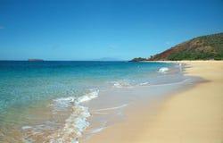 Spiaggia in Maui, Hawai fotografia stock