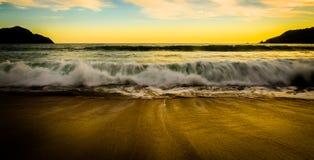 Spiaggia a Mazatlan, Messico Fotografia Stock Libera da Diritti