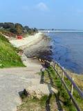 Spiaggia media Dorset Inghilterra Regno Unito di Studland situata fra Swanage e Poole e Bournemouth uno di tre spiagge su questa  immagini stock