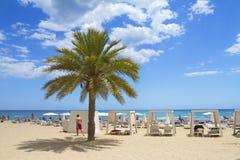 Spiaggia mediterranea in Spagna Immagini Stock