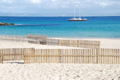Spiaggia mediterranea in Spagna del sud Fotografie Stock Libere da Diritti
