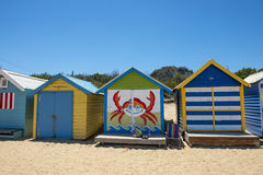 Spiaggia Melbourne di Brightom fotografia stock libera da diritti