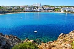 Spiaggia in Menorca, spagna di Castell dei d'es di Arenal Fotografia Stock Libera da Diritti