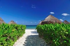 spiaggia messicana Fotografie Stock