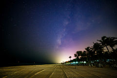 Spiaggia messicana alla notte Immagine Stock