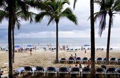 Spiaggia messicana sull'Oceano Pacifico Fotografia Stock