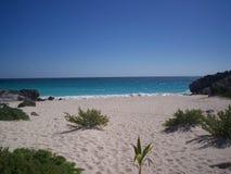 Spiaggia Messico di Tulum Fotografia Stock Libera da Diritti